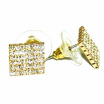Square Gold Earrrings 10MM