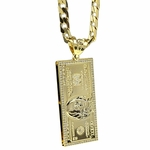 100 Dollar Bill Pendant Chain