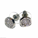 10 mm Silver Tone Round Earrings