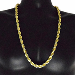 "30"" Gold 10MM Rope Chain"