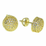 Round Screw-Back Earrings