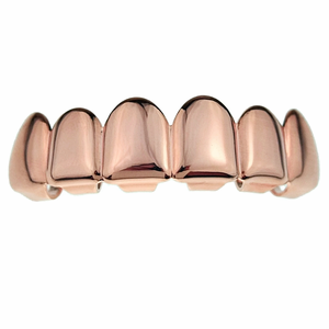 Rose Gold Six Top Grillz