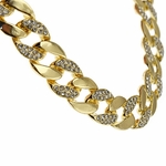 15 mm Gold Plated Cuban Chain 30""