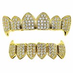 CZ Fang Set 18K Gold Plate