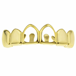 2 Open 14k Gold Plated Top Grillz