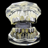 Silver 2 Open Face Grillz Set