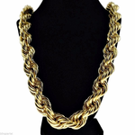 "20mm x 36"" Gold Rope Chain"