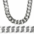 "24"" Cuban Curb Silver Plated Chain"