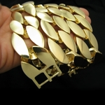 """25mm 30"""" Cuban Link  Gold Plated Chain"""
