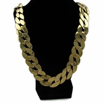 "25mm 30"" Cuban Link  Gold Plated Chain"