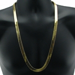 "30"" 11mm Herringbone 14K Gold GP Chain"