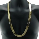 "30"" 14mm Gold Plated Herringbone Chain"