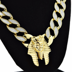 "30"" Pharaoh Chain Gold Sandblast"