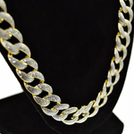 "30"" x 13MM Sand Blast Gold Chain"