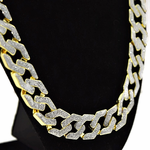 "30"" x 15MM Sand Blast Gold Chain"