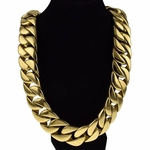 Heavy 30MM S. Steel Gold Plated Chain