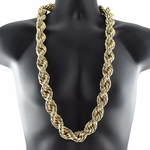25MM Gold Plated Rope Chain