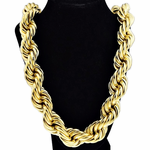 "25 mm 36"" Gold Plated  Rope Chain"
