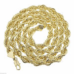 "36"" Gold Plated 9MM Rope Chain"