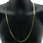 "30"" 5mm Gold Plated Herringbone Chain"