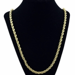 5 mm Gold Plated Rope Chain 30""