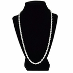 5 mm Silver Plated Rope Chain 24""