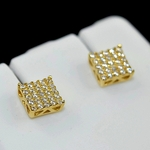 Square Gold Plated 6MM Earrings