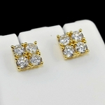 Square Gold Plated 7MM Earrings