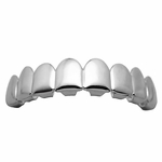 8 Tooth Silver Tone Top Grillz
