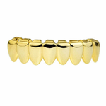 Gold 8 Tooth Lower Grillz