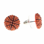 Basketball Iced-Out Earrings