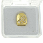 Big CZ Stones Gold Plated Tooth Cap