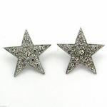 "Big Star 1.5"" Silver Tone Earrings"
