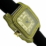 Black And Yellow Squared Watch