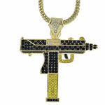 "UZI Black/Yellow 36"" Franco Chain"