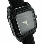 Midnight Black Iced-Out Watch