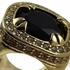 Black Faux Onyx Gold Men's Ring