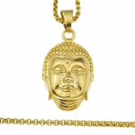 "Buddha Stainless Steel 24"" Chain"