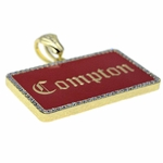 Compton 14k Gold Plated Red Charm
