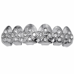 Crosses Silver Top Grillz