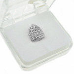 Silver Cubic CZ Top Tooth