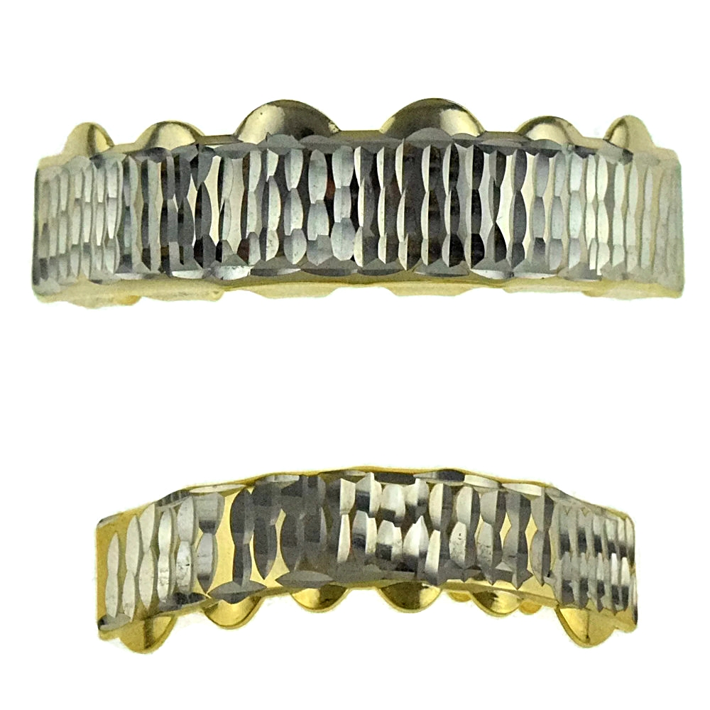 Diamond Cut Gold Plated Grillz Set Grillz Everything