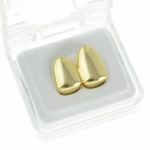 Double Cap Gold Plated Grillz