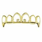 6 Open 14k Gold Plated Top Fangs