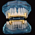 Gold Fangs Half Grillz Set
