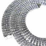 Four Row Silver Iced-Out Chain