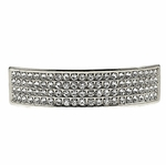 Four Row Silver Tone Top Grillz
