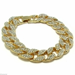 Full Iced-Out Miami Cuban Link Bracelet