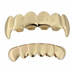 Gold Color Plated Vampire Grillz Set