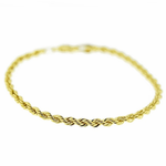 "Rope Chain Bracelet 9"" x 3.5MM"